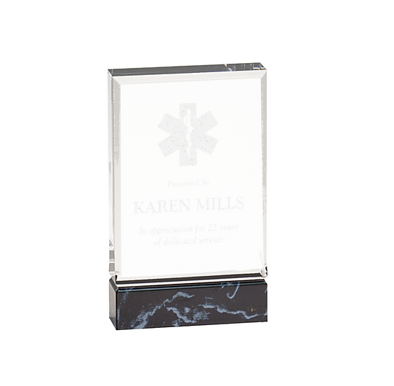 Personalized Black Fusion Acrylic Award, Office Award, Employee Recognition