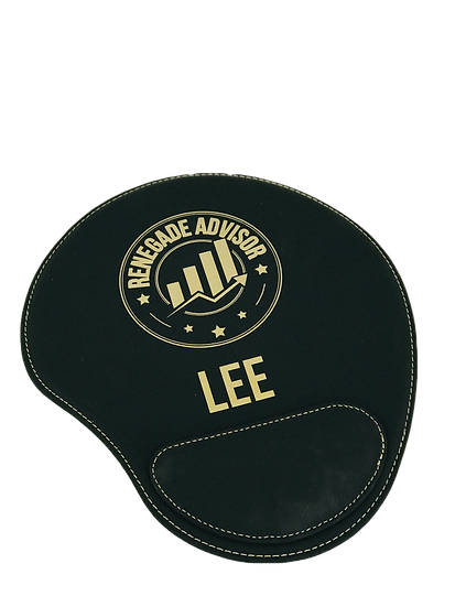 Laserable Leatherette Mouse Pad, Personalized Gifts, Promotional, Office Tech