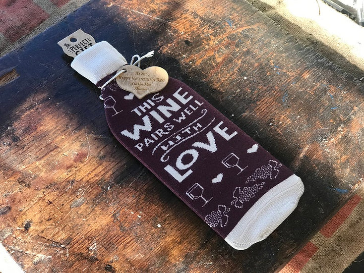Personalized Bottle Sock, Wine Tote, Wine Bottle Carrier, Personalized Wine Bag,