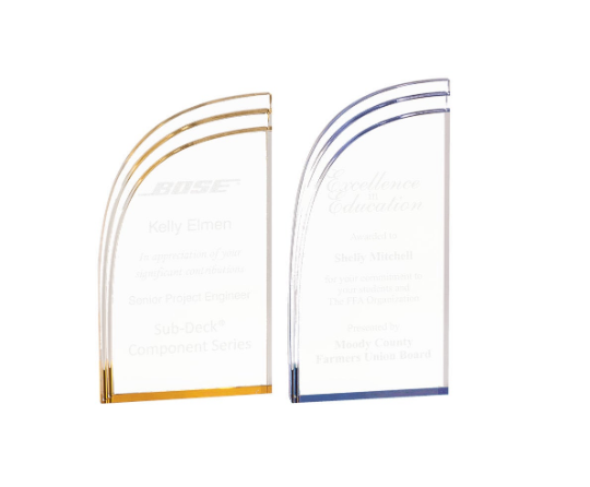 Curved Wave Acrylic Award, Professional Recognition Awards,Academic Achievement