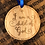 "Thumbnail: ""I Am a Child of God,"" Engraved Wooden Christmas Ornament: Limited"