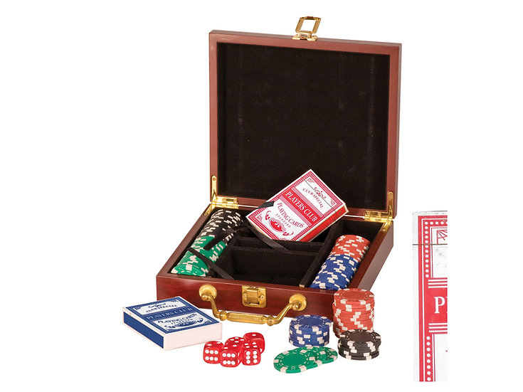 Rosewood Poker Game Set, Gifts for Him, Gifts for Her, Personalized Engraved