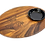 Thumbnail: Personalized Teak Bread Board with Ceramic Dipping Bowl, Laser Engraved Wood