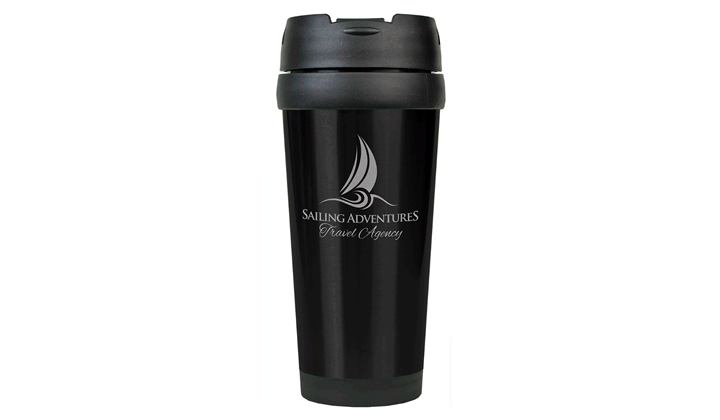 Personalized 16oz Stainless Steel Travel Mug (No Handle)