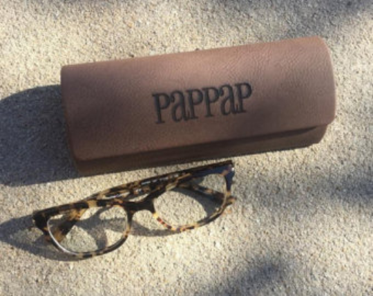 Leatherette Eyeglass Case, Custom, Engraved, Personalized Gifts, Glasses Case