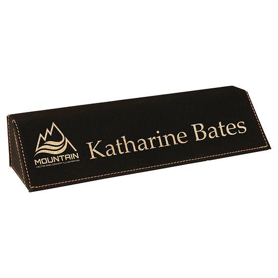 Leatherette Desk Wedge, Personalized Engraved, Promotional Gifts, Office