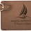 """Thumbnail: 4 1/4"""" x 2 3/4"""" Leatherette Luggage Tag, Personalized Engraved"""