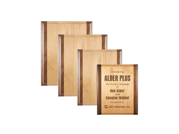 Alder and Walnut Wood Plaque, Awards, Recognition, Appreciation