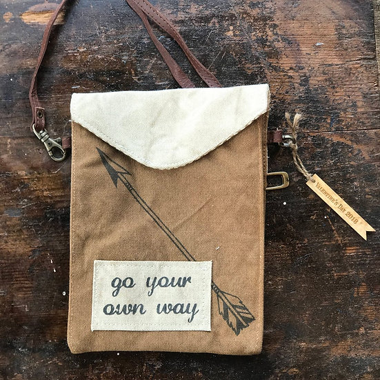 "Personalized Canvas ""Your Own Way""Bag, Shoulder Bag, Personalized Purse"