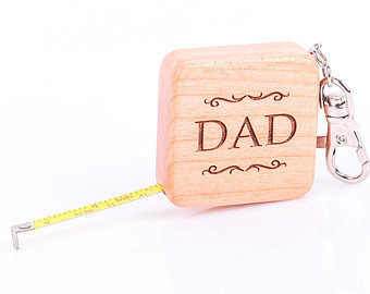 Personalized Measuring Tape Keychain