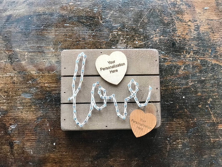 "Personalized ""Love"" String Art Slat Box"