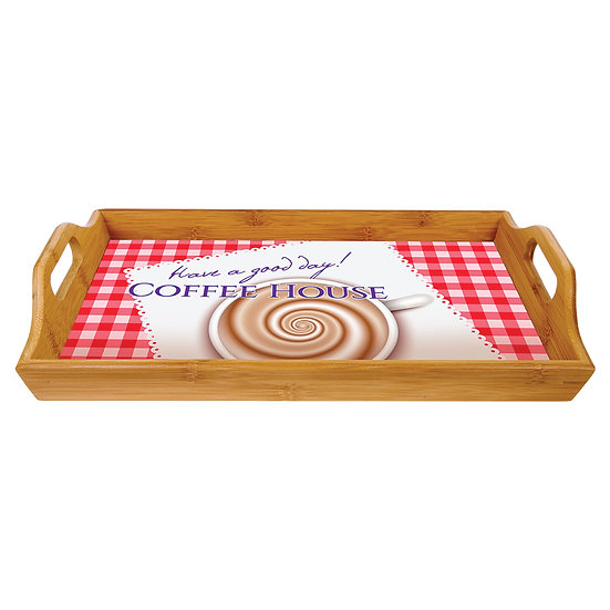 Bamboo Serving Tray, Personalized, Engraved Serving Tray, Housewarming Gift
