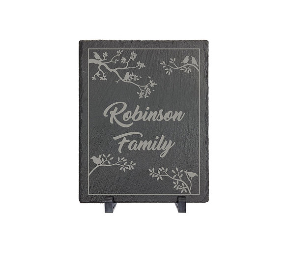 Engraved Standing Slate Sign, Custom Rustic Décor, Housewarming Gifts, Personali
