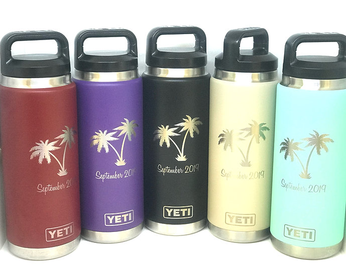Custom Engraved 26oz YETI Bottle, Personalized Travel Mug, Engraved YETI Cups