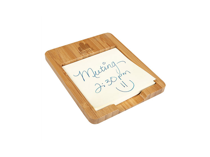 "Bamboo Sticky Note Holder, Personalized 3 5/8"" x 4 1/2"""
