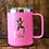 Thumbnail: Custom Engraved Polar Camel Vacuum Sealed Coffee Mug w/ Clear Slide Lid
