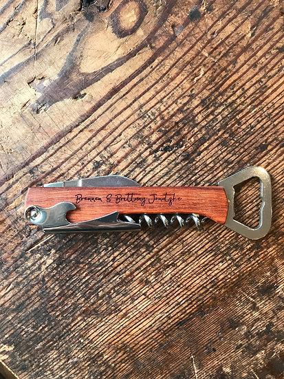 Rosewood Cork Screw Tool