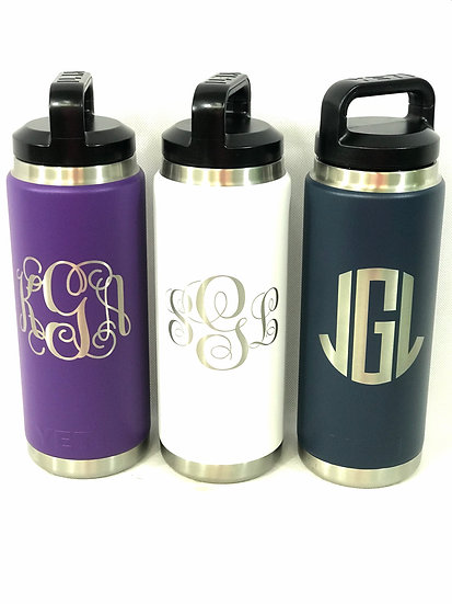 Custom Engraved 36oz YETI Bottle, Personalized Travel Mug, Engraved YETI Cups