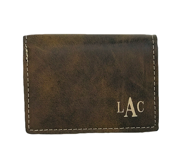 Personalized Leatherette Tri-Fold Wallet, Customized Wallet, Men's Wallet