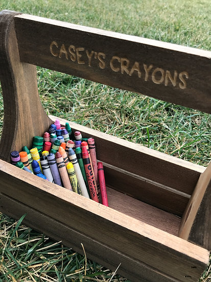 Personalized Crayon Caddy