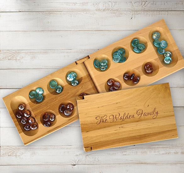 Custom Mancala Game Set, Family Games, Gifts for Kids, Gifts for Teachers, Games