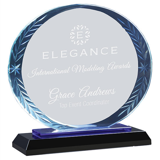 Oval Glass Accent Award, Professional Awards, Promotional Awards