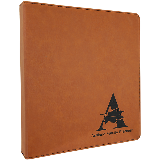 Leatherette 3 Ring Binder, Gifts for Teachers, School, Personalized, Engraved