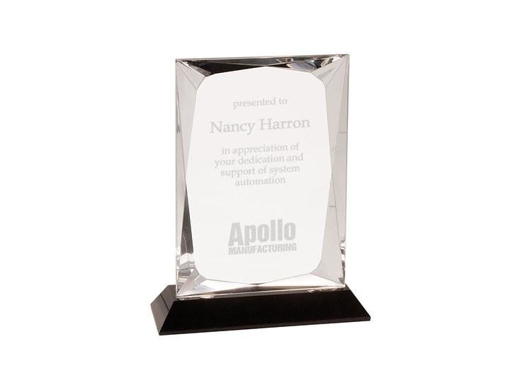 Custom Crystal Award, with base, Professional Recognition, Achieve