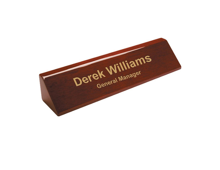 Personalized Piano Finish Desk Wedge, Engraved, Promotional Gifts, Office Suppli