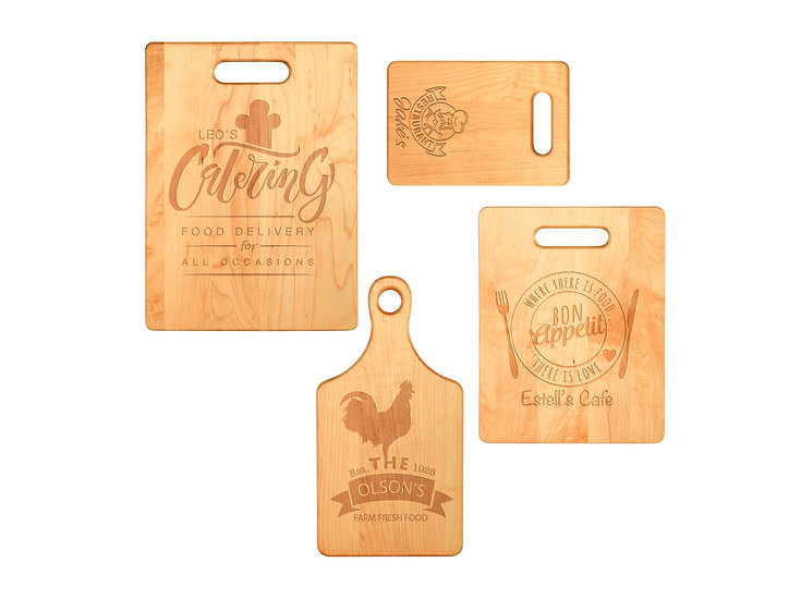 Personalized Solid Wood Cutting Board Set, Housewarming Gift, Wedding Gift