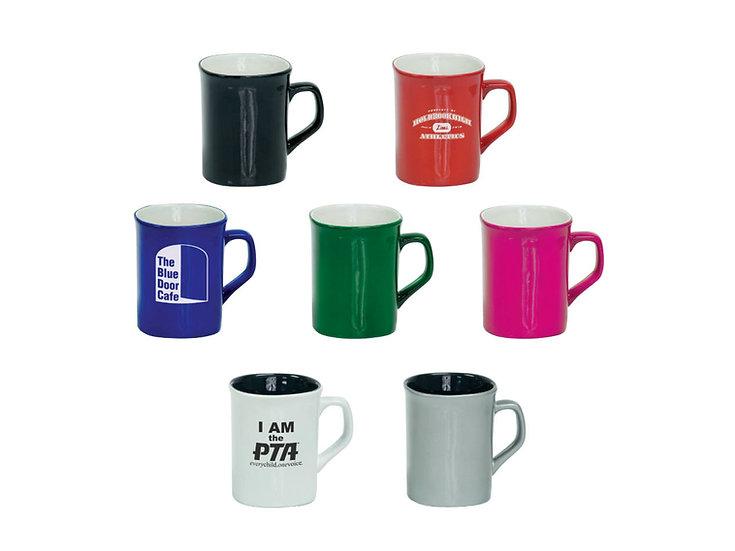 10 oz. Ceramic Rounded Corner Mug, Engraved Mug, Drinkware, Gifts for