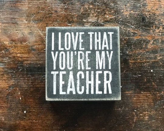 "Personalized Slat ""Teacher"" Box, Customized Wooden Box, Personalized Box"