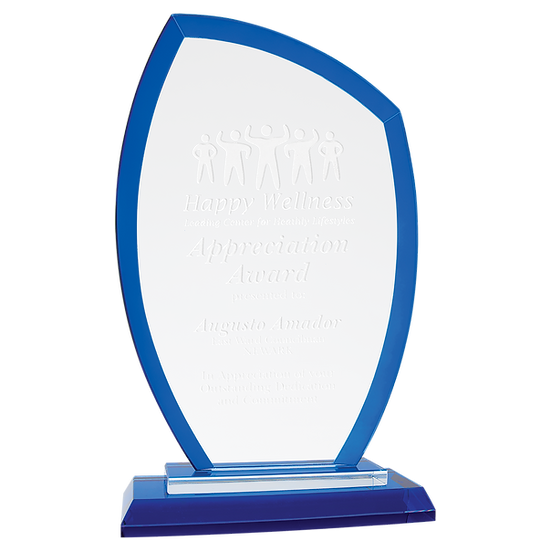 Regal Angled Glass Award, Personalized Engraved, Promotional Gifts