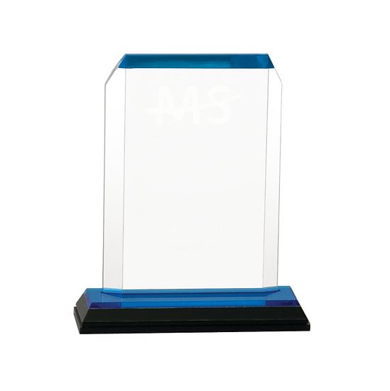 Personalized Clipped Corner Impress Acrylic Award, Employee Award, Upscale Award