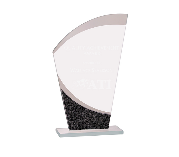 Designer Glass Wave Award, Promotional Gifts, Awards, Professional