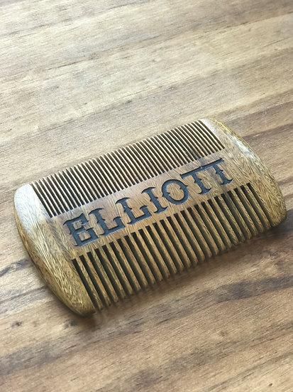Custom Engraved Sandal Wood Beard Comb