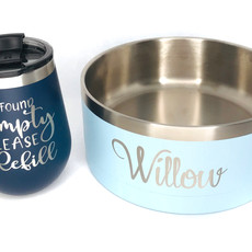 RTIC Wine Cup and Dog Bowl