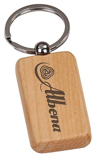 Personalized Bamboo Keychain