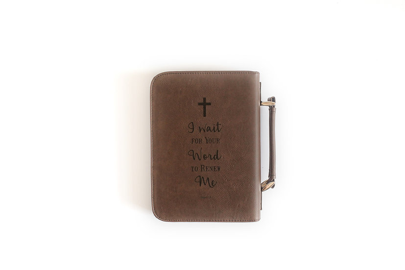 Personalized Leatherette Zip Bible or Book Cover/Case