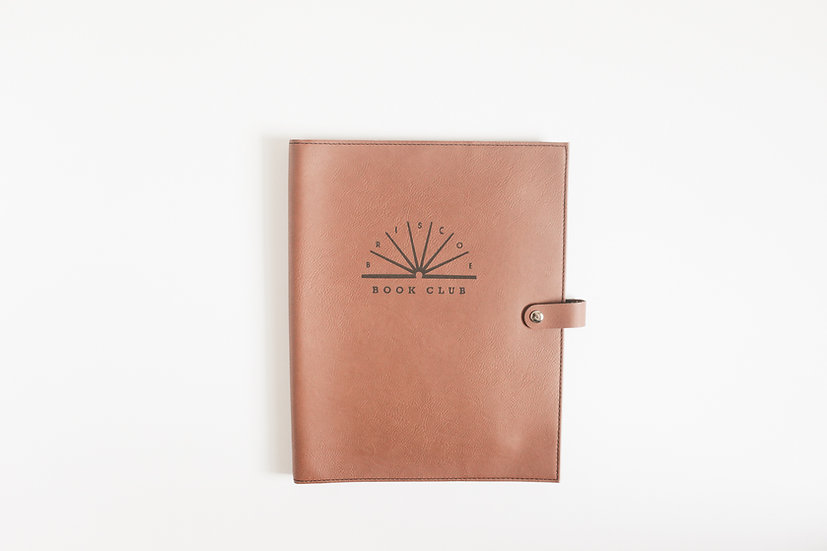 Personalized Leatherette Snap Book Cover