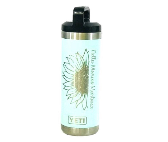 18oz Custom Engraved YETI Bottle, Vacuum Sealed Bottles