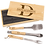 Thumbnail: Personalized 3-Piece BBQ Set in Wooden Pine Box, Custom Engraved BBQ set
