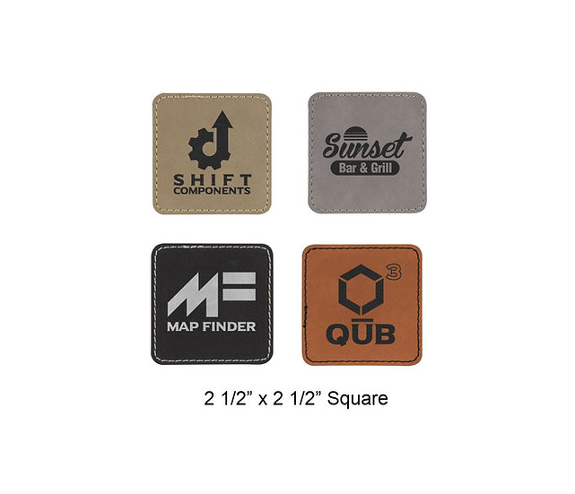 Custom Iron-on Leatherette Patch, Custom Label, Engraved Patch, Engraved