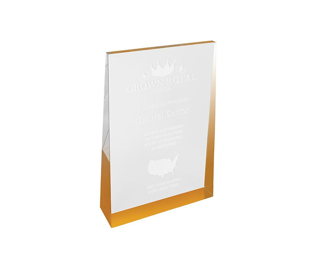 Acrylic Wedge Award, Personalized Engraved, Promotional Gifts, Awards, Trophies