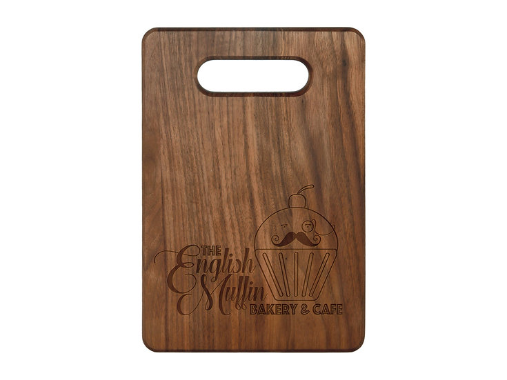 "Personalized 9"" x 6"" Walnut Cutting Board, Custom Engraved Kitchenware,"