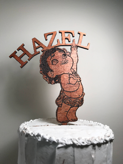 Customized Moana Cake Topper