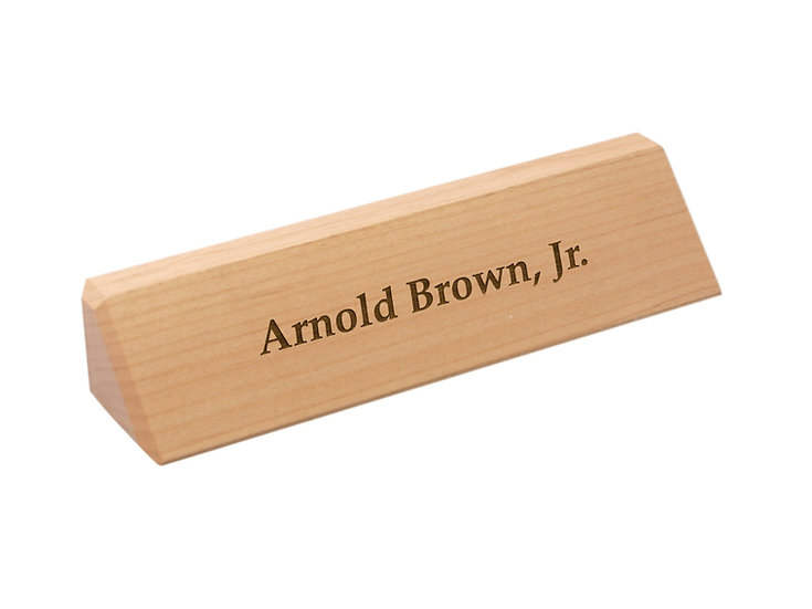 Wooden Desk Wedge, Personalized Engraved, Promotional Gifts, Office