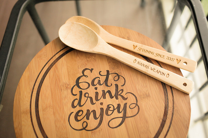 Personalized Wooden Serving Utensils