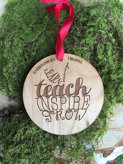 Personalized Teacher Appreciation Ornament: Teacher Appreciation Gift
