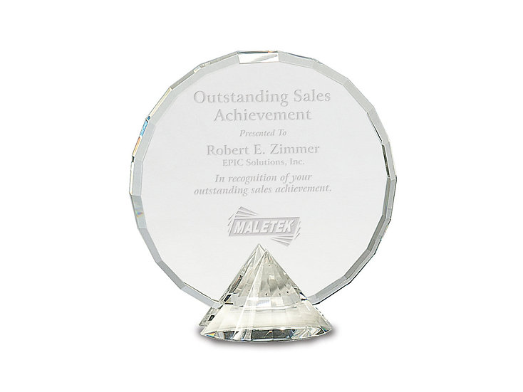 Presidential Crystal Award, with base, Professional Recognition, Achievement